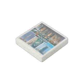 AE United Arab Emirates - Dubai - marina towers Stone Magnets