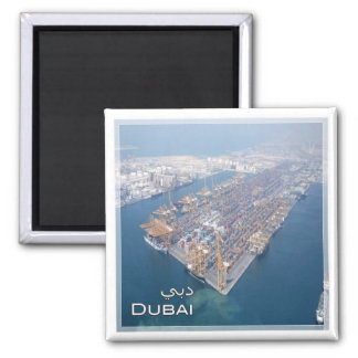 AE # United Arab Emirates Dubai - Nahen Osten Square Magnet