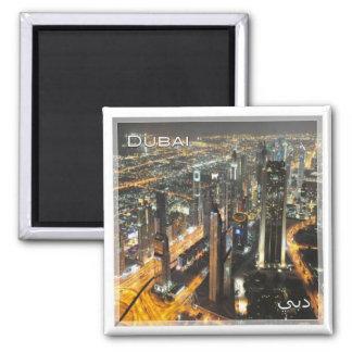 AE # United Arab Emirates Dubai - night scene Magnet