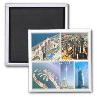AE * United Arab Emirates - Dubai Uae Square Magnet
