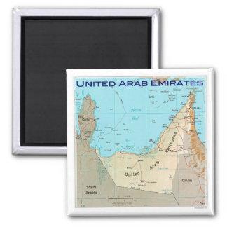 AE # United Arab Emirates - map Square Magnet