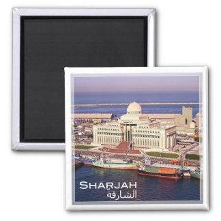 AE # United Arab Emirates Sharjah - Superior Court Square Magnet