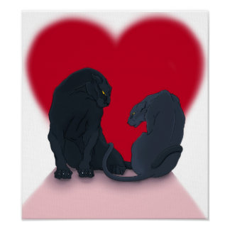 AE Valentine Panthers Poster