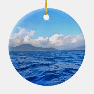 Aegean Blue Ceramic Ornament