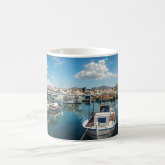 Aegina island port coffee mug