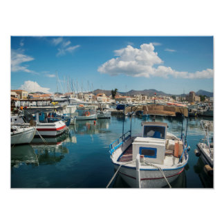 Aegina island port poster