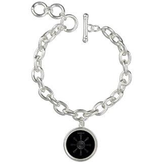 ☼Aegishjalmur – Ancestral and Spiritual Rune☼ Charm Bracelets