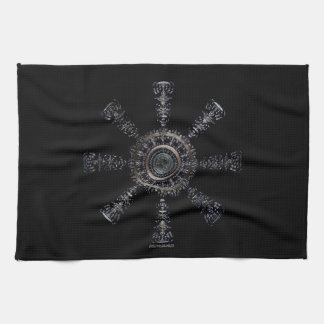 ☼Aegishjalmur – Ancestral and Spiritual Rune☼ Kitchen Towel