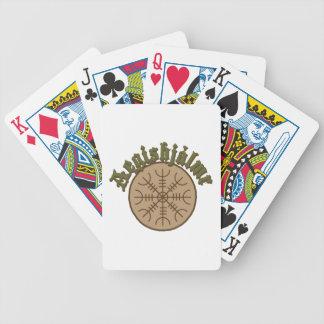 Aegishjlamr Stave Sigil Bicycle Playing Cards