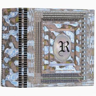 Aeldresgate Milan Elegant Monogram 3 Ring Binders