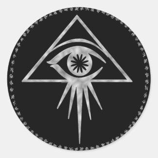 Aeon all-seeing eye Sticker (Black)