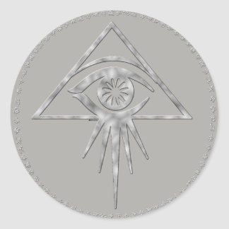 Aeon all-seeing eye Sticker ( Dark Gray)