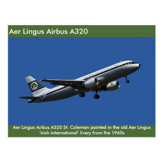 Aer Lingus Airbus A320  image for postcard