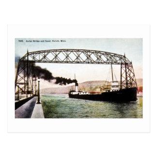 Aerial Bridge and Canal, Duluth, Minn. Postcard