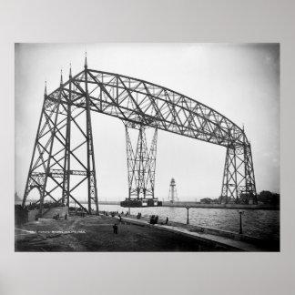 Aerial Bridge Duluth Minnesota Poster