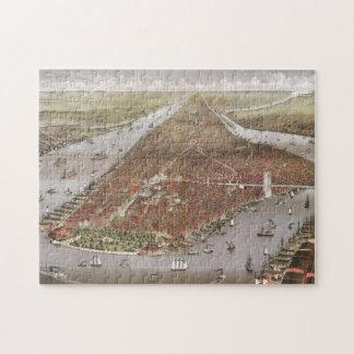 Aerial City View of Manhattan, New York, USA Jigsaw Puzzle