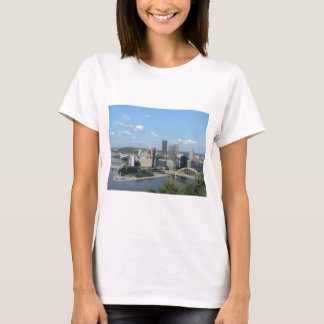 Aerial Downtown Pittsburgh Skyline T-Shirt