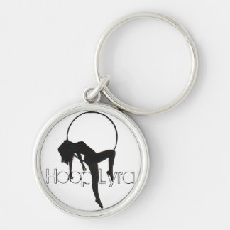 Aerial Hoop Lyra Keyring Silver-Colored Round Keychain