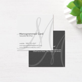 aerial initial square business card