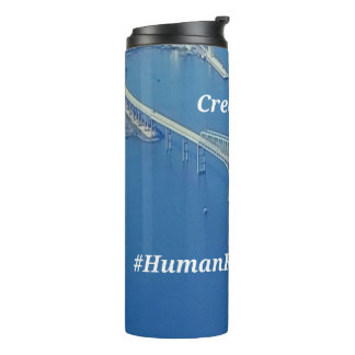 Aerial Inspirational Symbolic Bridge On Blue Water Thermal Tumbler