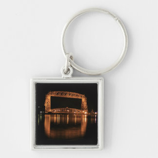 Aerial Lift Bridge at night Keychain