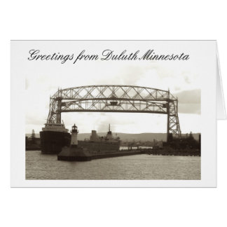 aerial lift bridge, duluth mn card