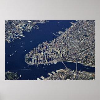 Aerial Lower Manhattan Poster