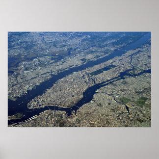 Aerial Manhattan Poster