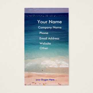Aerial Ocean Aquamarine Blue Beach Business Card