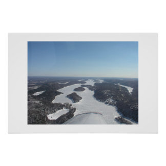 Aerial of Candlewood Lake Poster