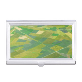 Aerial Of Farmlands In Ethiopia Business Card Holders