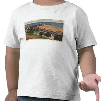 Aerial of Pleasure Pier & Yacht Harbor T-shirts
