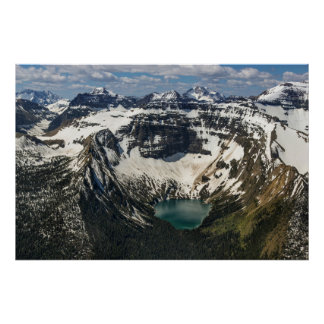Aerial Of Warderman Lake Poster