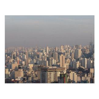 Aerial Panoramic - Sao Paulo Postcard