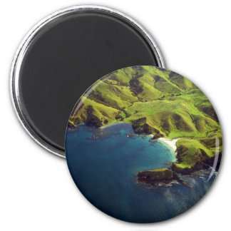 Aerial Photograph of Northland, New Zealand 2 Inch Round Magnet
