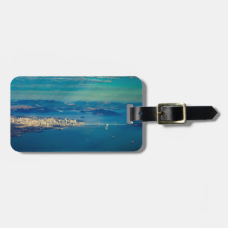 Aerial photograph of the San Francisco Bay Luggage Tag