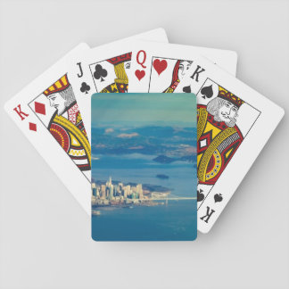 Aerial photograph of the San Francisco Bay Playing Cards