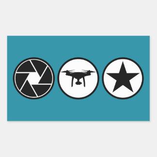 Aerial Photographer DJI Phantom USA Sticker