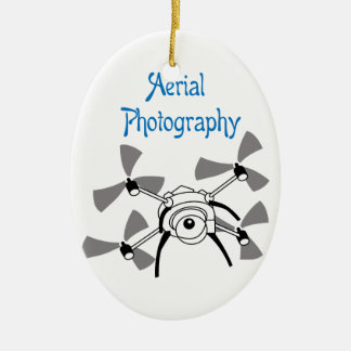 Aerial Photography Ceramic Oval Ornament