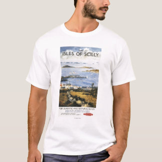 Aerial Scene of Town and Dock Railway Poster T-Shirt