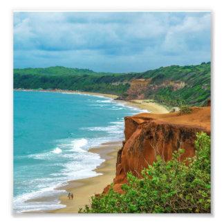 Aerial Seascape Scene Pipa Brazil Art Photo