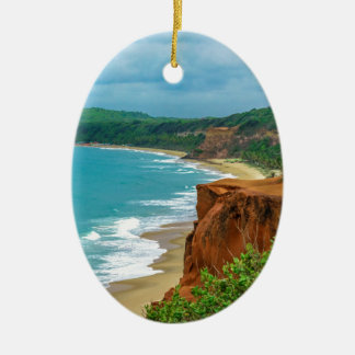 Aerial Seascape Scene Pipa Brazil Ceramic Ornament