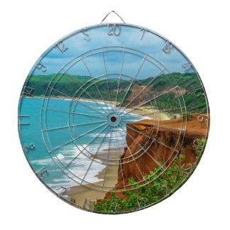 Aerial Seascape Scene Pipa Brazil Dartboard