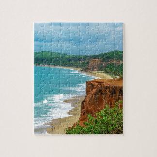 Aerial Seascape Scene Pipa Brazil Jigsaw Puzzle