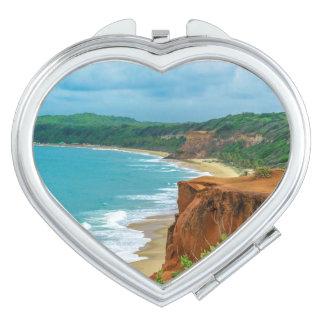 Aerial Seascape Scene Pipa Brazil Makeup Mirrors