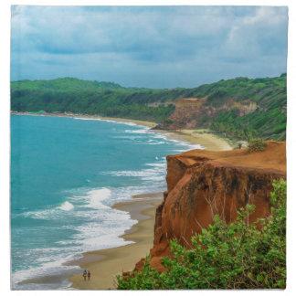 Aerial Seascape Scene Pipa Brazil Napkin