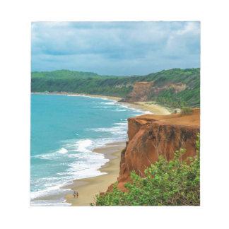 Aerial Seascape Scene Pipa Brazil Notepad