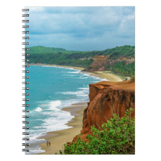 Aerial Seascape Scene Pipa Brazil Spiral Notebook