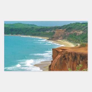 Aerial Seascape Scene Pipa Brazil Sticker