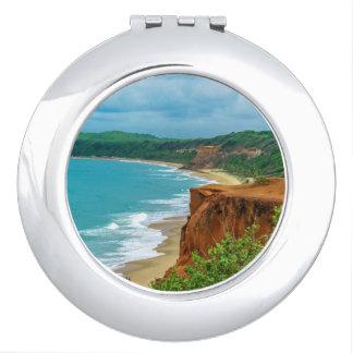 Aerial Seascape Scene Pipa Brazil Travel Mirrors